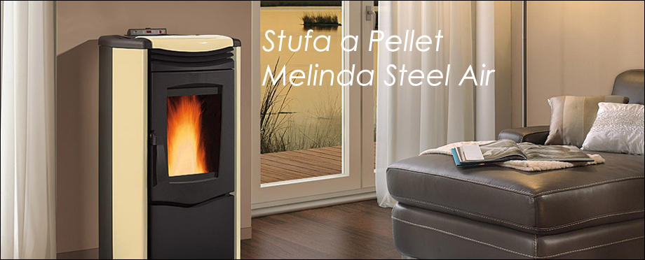 Stufa a Pellet MELINDA STEEL AIR