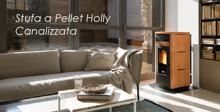 Stufa a pellet HOLLY CANALIZZATA